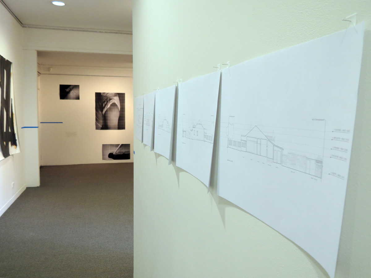 Trace  install, penhale and Winter, Shannon Lyons, Bevan Honey and Jacqueline Ball