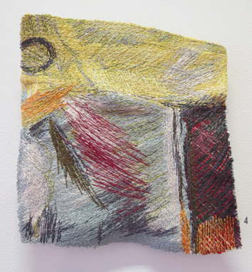 4. Dionne Swift,  Found Stitches 2 , free machine embroidery of cotton, silk and viscose thread, $320