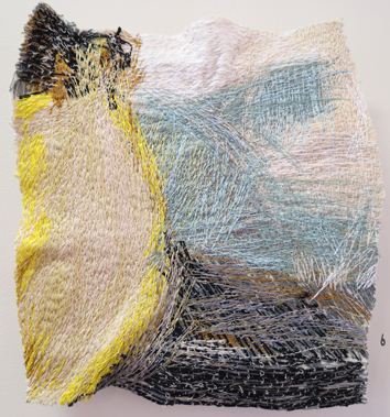 6. Dionne Swift,  Found Stitches 4 , free machine embroidery of cotton, silk and viscose thread, $320