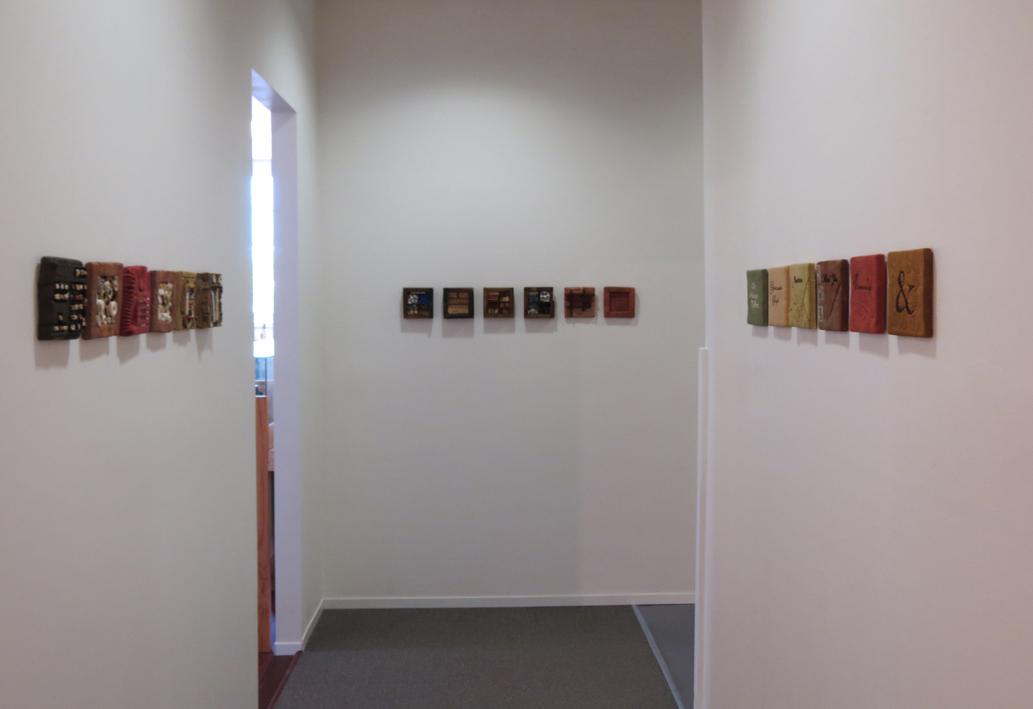 13, 14, 15. Diane Savona, This Too Shall Pass , mixed media installation