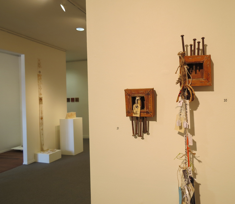 30, 31. Glenys Mann,  Tags II, III,  mixed media, $150 and $100