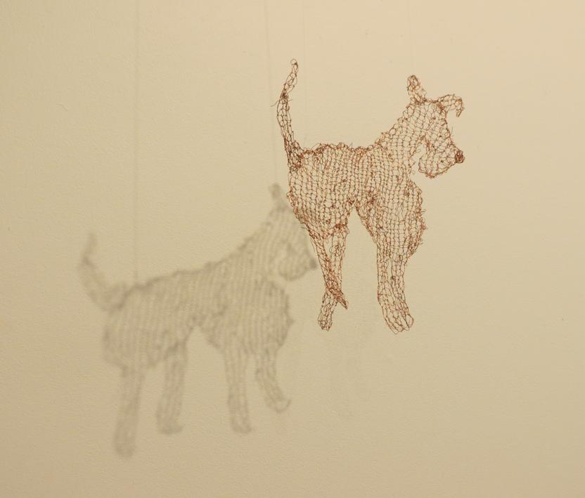 1 Cathy Rankin, Dog, copper wire, SOLD