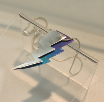 5.  Thor Pendant , sterling silver, niobium $185