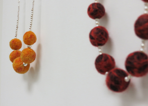 29.  Saffron , merino wool, sterling silver $245  30.  Spice , synthetic fibre, merino wool, sterling silver $260