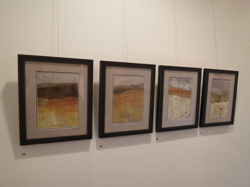 43-46. Trudi Pollard,  Landscapes 3-6,  $850 each