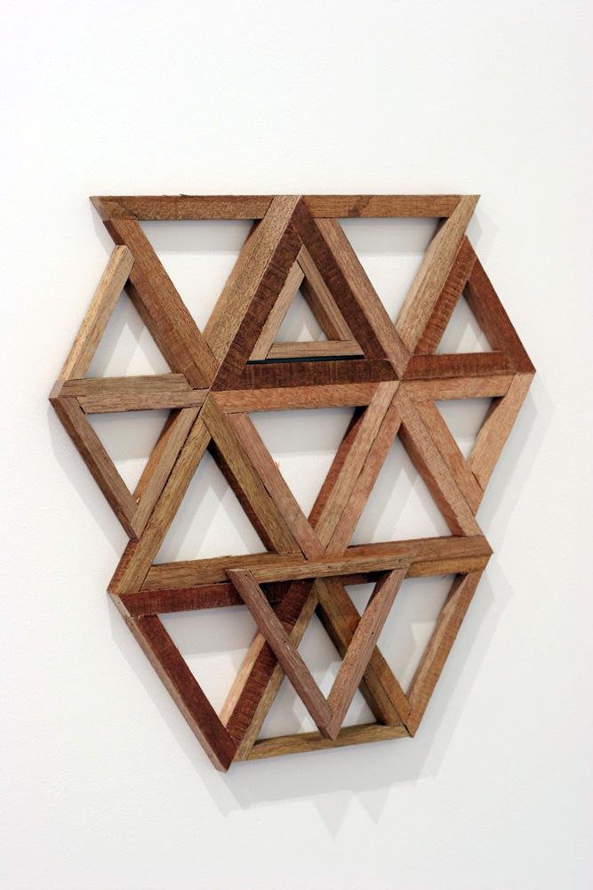 3. Jonathan Holding,  Template , Found wood, 44.5 x 43.5 x 2cm, $110