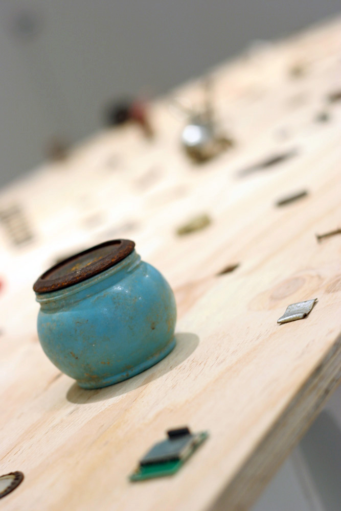 23. Kat Scarff,  Found Fragments , Found objects, ply board, dimensions variable, $$20 per composition