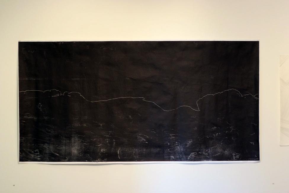 10. Kathleen Bloomfield-Gibbs,  Coastline , 2014, Monoprint, ink on paper, 200 x 101.5cm, $600