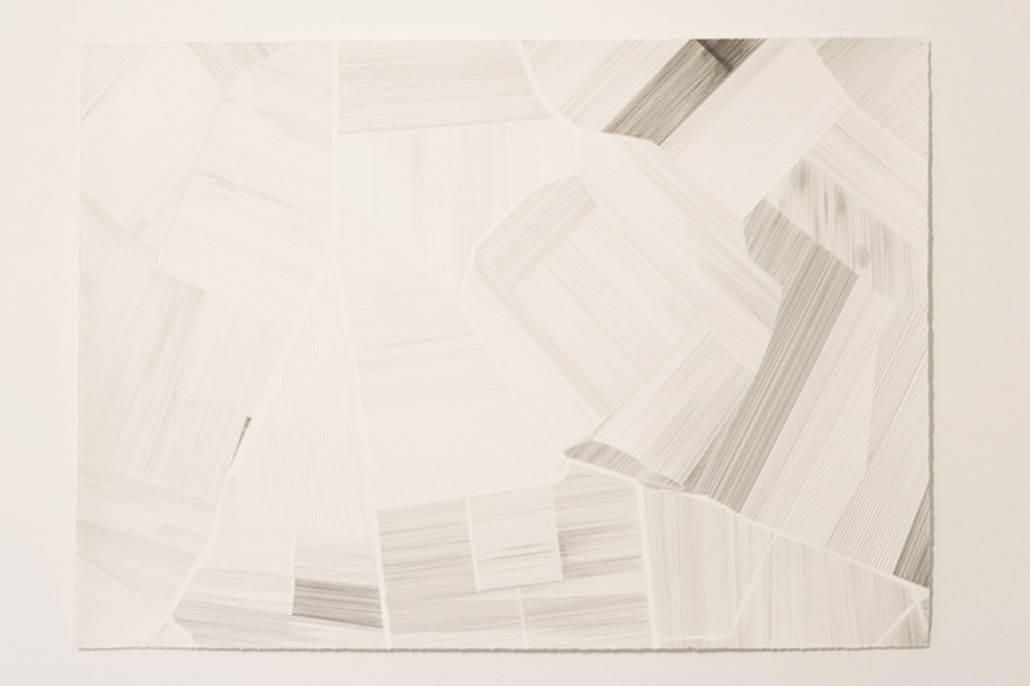 11. Kathleen Bloomfield-Gibbs,  Châteauneuf-du-Pape ,  Aerial view , 2014, Graphite on Arches paper, 106.7 x 75cm, $800