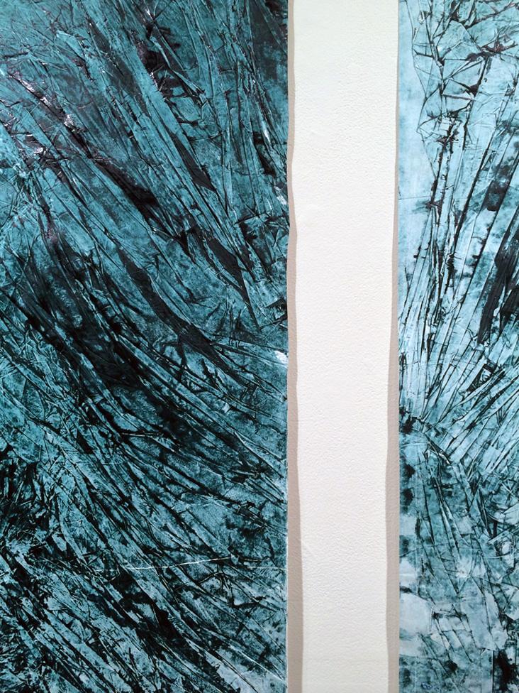 14. Tessa Beale,  Glacier 11 & Glacier 12 (detail) , Intaglio print, 90 x 108cm, $400 each