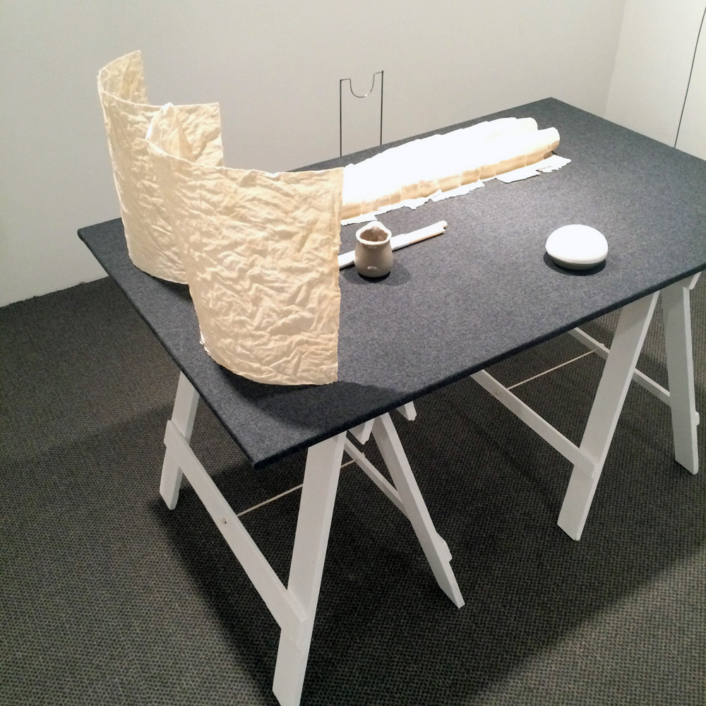 17. Emma Schrader,  In the Absence of a , (installation made up of 8 objects), dimensions variable, POA full installation