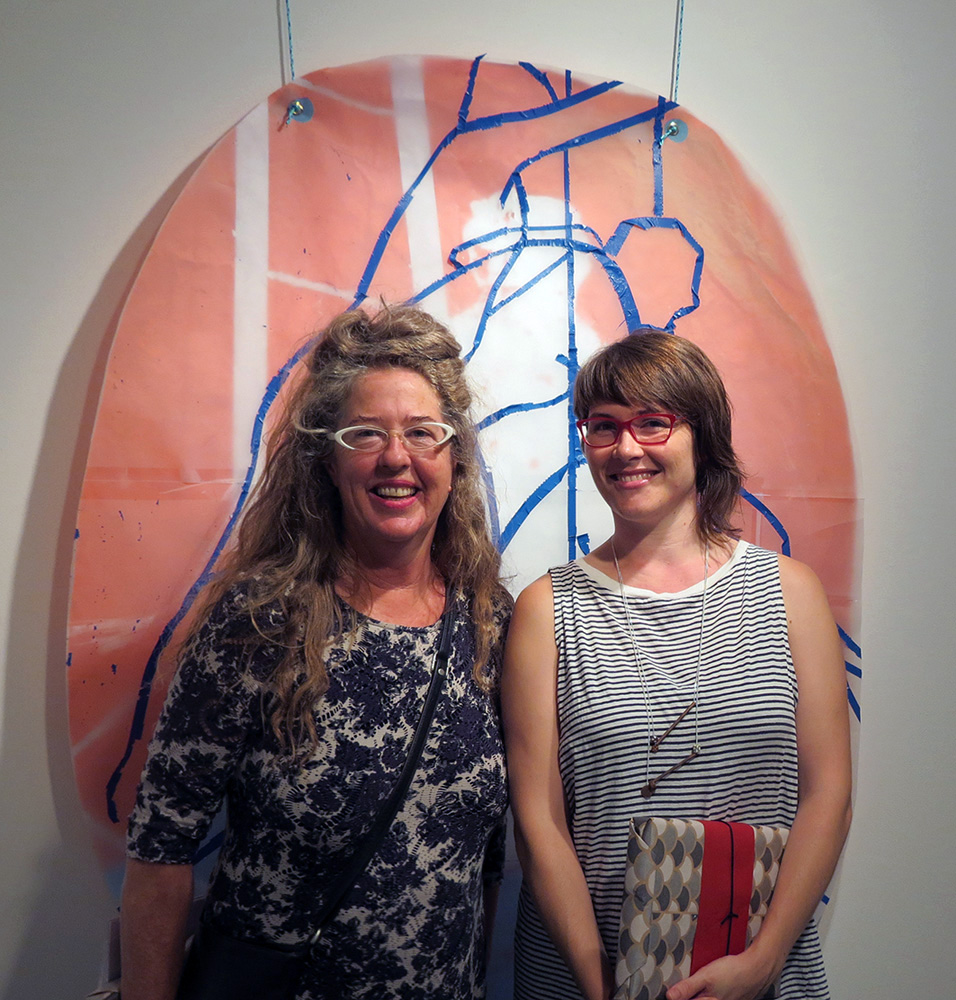Thelma John and co-curator Kate Parker at the opening night of the  Watch This Space 2015  exhibition