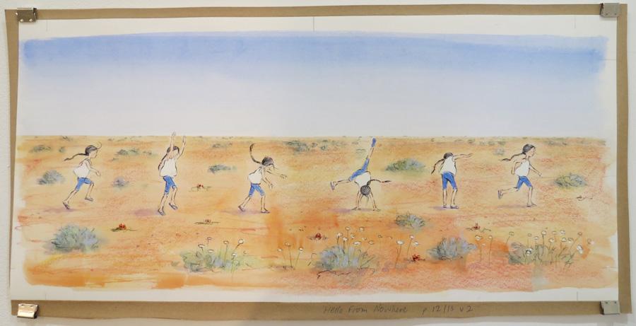 3.  Eve Running  by Karen Blair, pencil, watercolour, pastel, charcoal pencil, NFS