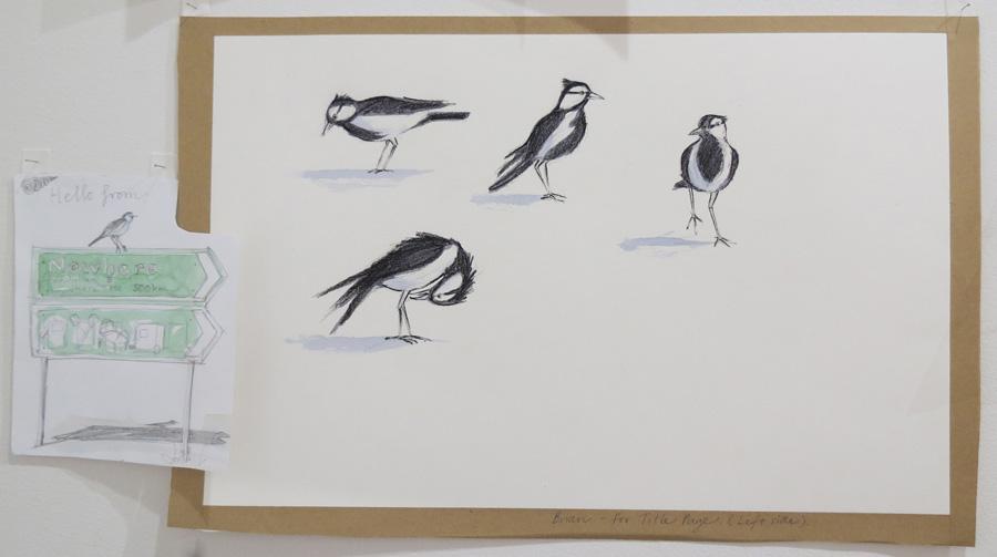 6.  Brian the Mudlark  by Karen Blair, pencil, watercolour, pastel, charcoal pencil, NFS