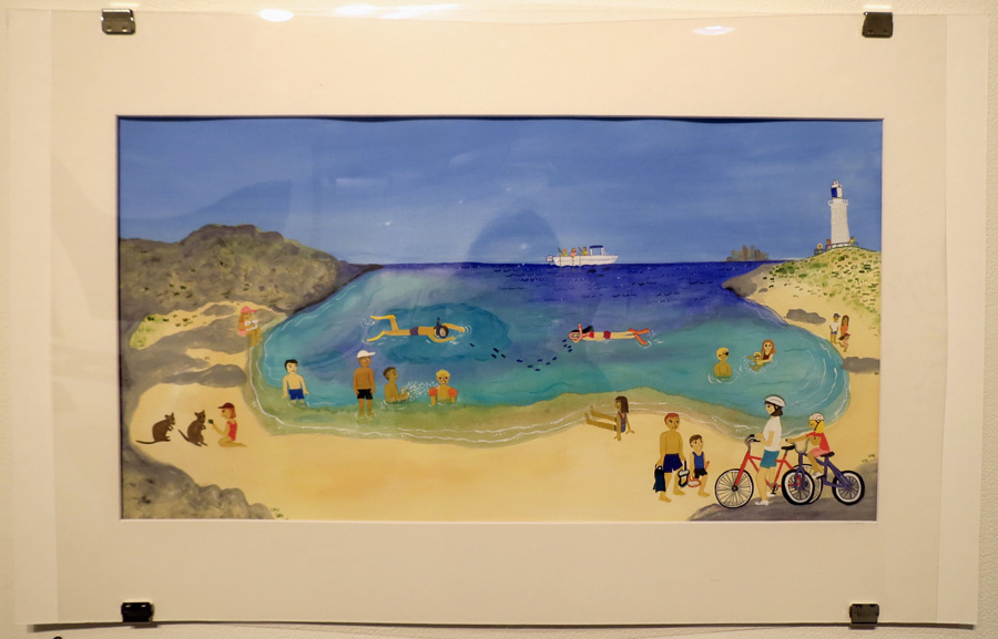 9.  R is for Rottnes t by Frane Lessac, gouache on paper, $895