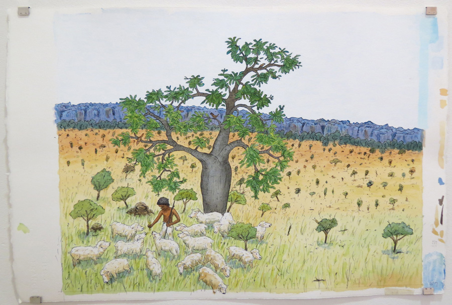 15.  But the boss at Lennard River...  by Terry Denton, watercolour on paper, NFS