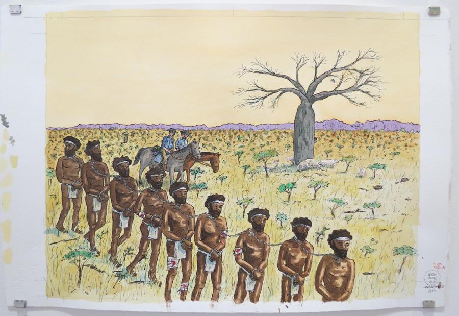17.  Bunuba hunters climbed down...  by Terry Denton, watercolour on paper, NFS