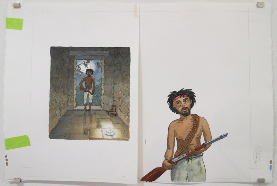 19.  He crept towards the homestead  by Terry Denton, watercolour on paper, NFS