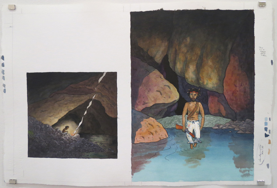 21.  Outside, troopers scoured ravines  by Terry Denton, watercolour on paper, NFS