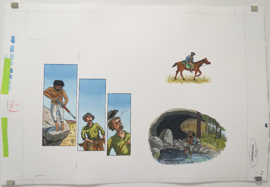 22.  Jandamarra haunted frontier homesteads  by Terry Denton, watercolour on paper, NFS