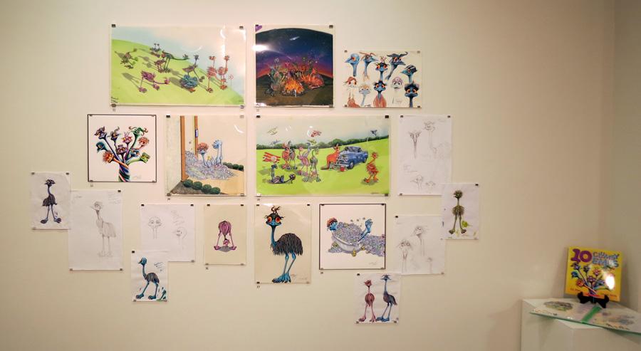 31 - 38.  10 Clumsy Emu's  by Wendy Binks (author Ed Allen)