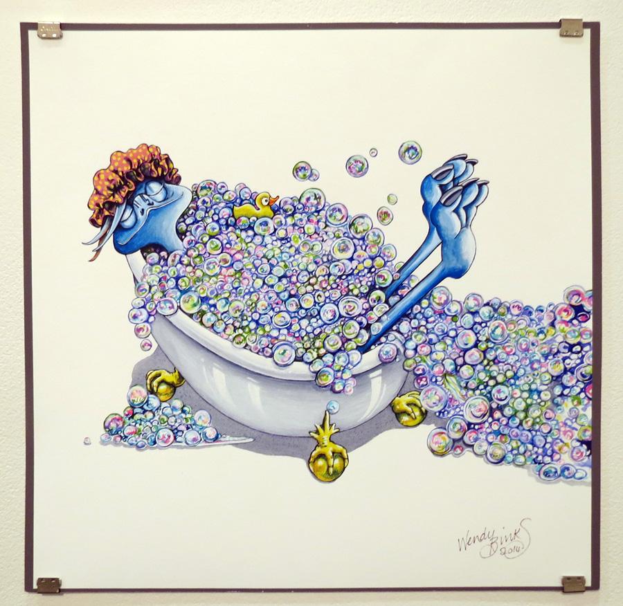 38.  1 Clumsy Emu  by Wendy Binks, limited edition print, $180
