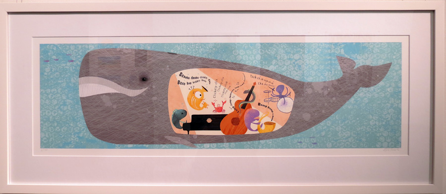 43.  Spread 15  of  Fish Jam  by Kylie Howarth (author and illustrator), mixed media ltd ed print, $385