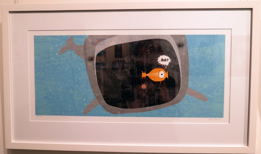 42.  Spread 11  of  Fish Jam  by Kylie Howarth (author and illustrator), mixed media ltd ed print, $385