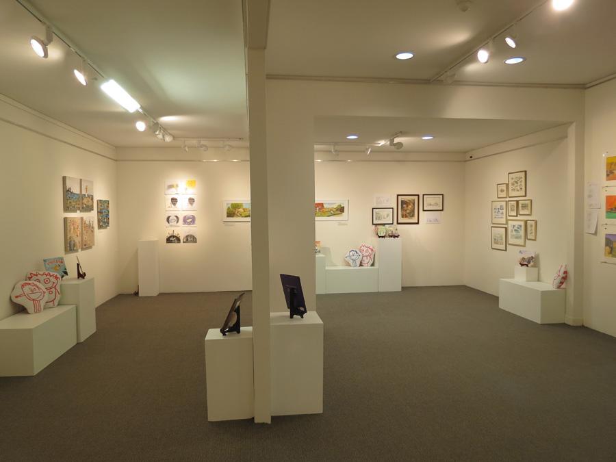 heARTlines  install - gallery north wall