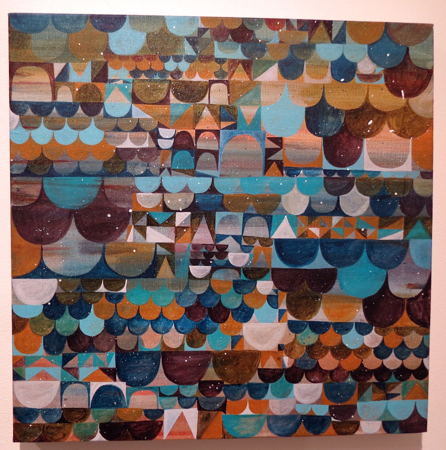51 End paper by Kyle Hughes-Odgers, acrylic on Belgian linen, NFS