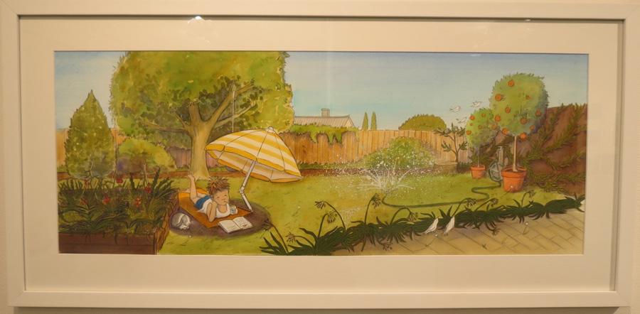 56.  Summer Garden  by Briony Stewart, watercolour, pencil, gouache, NFS