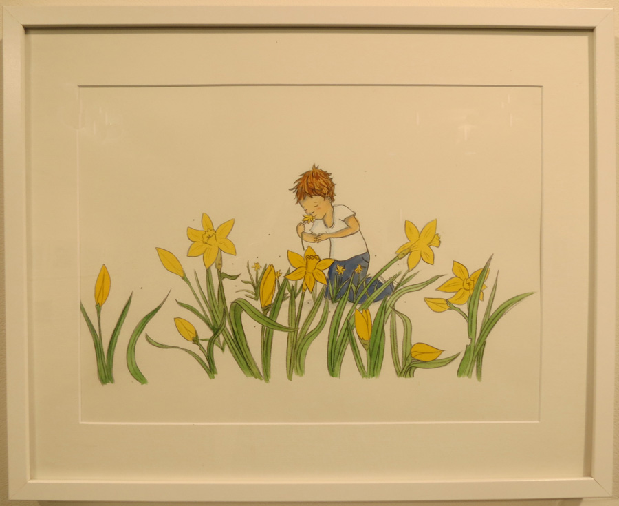 57.  Spring Flowers  by Briony Stewart, watercolour, pencil, gouache, NFS