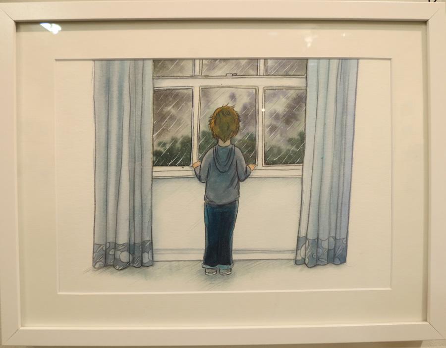 58.  Winter Window  by Briony Stewart, watercolour, pencil, gouache, NFS