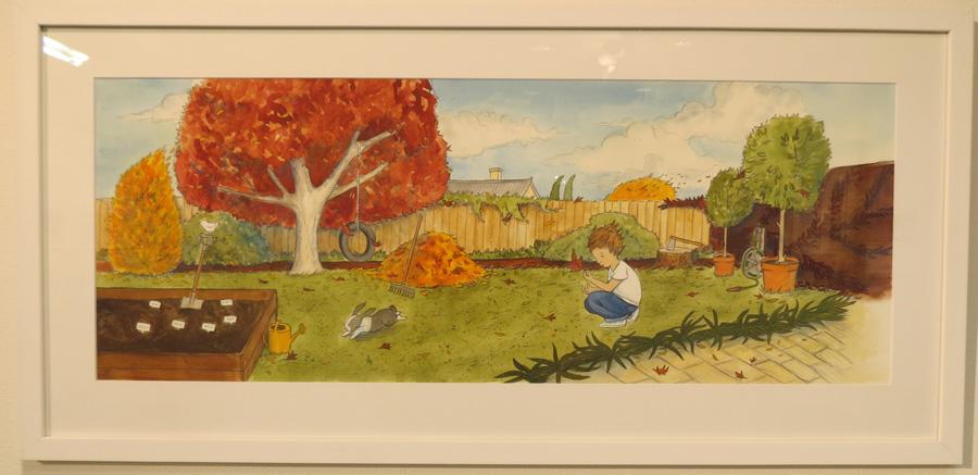 59.  Autumn Garden  by Briony Stewart, watercolour, pencil, gouache, NFS