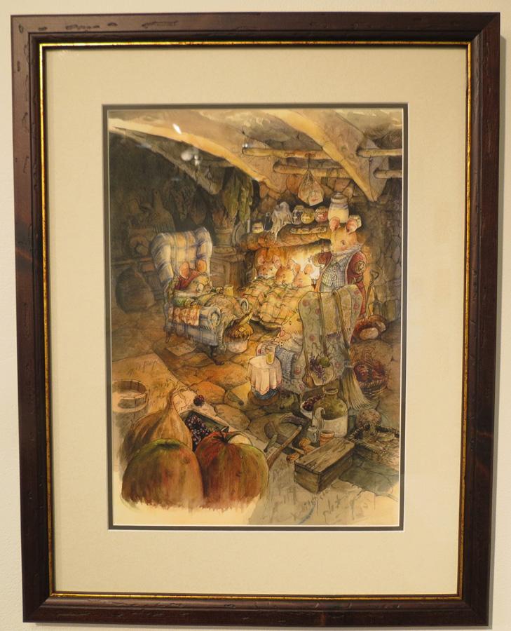 61.  Talking With Grandad  by Gabriel Evans, limited edition print, $350