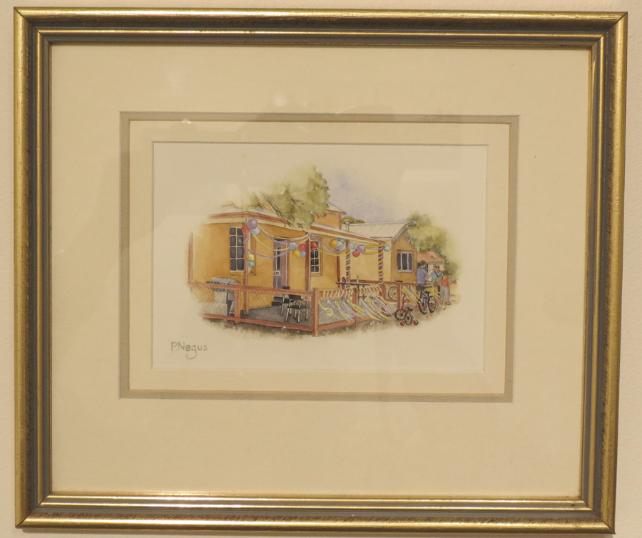 63.  Heritage Cottage, The Pilot Crews Kitchen 1867, Thompsons Bay  by Patricia Negus, watercolour, $250