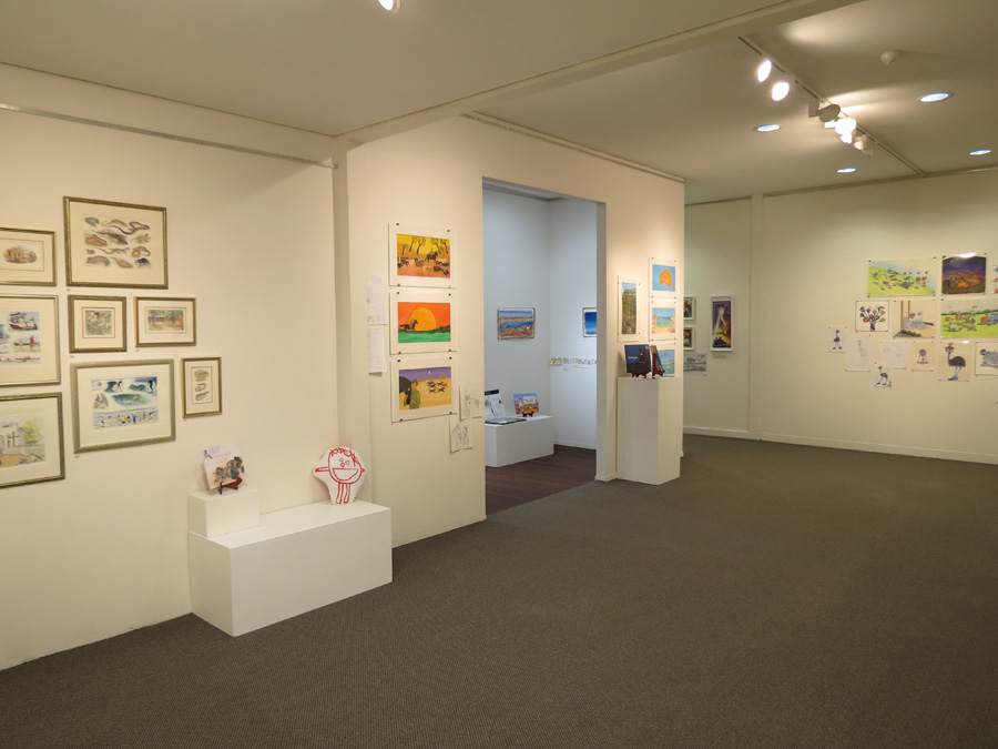 heARTlines  install - gallery s-e wall