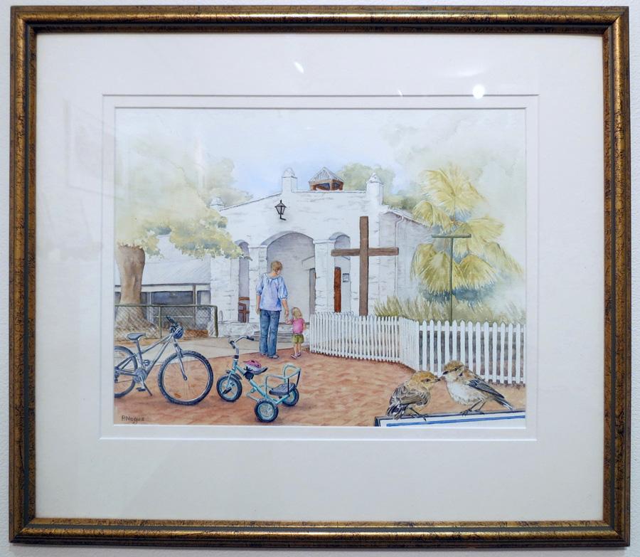 68.  Rottnest Island Chapel  by Patricia Negus, watercolour, $550