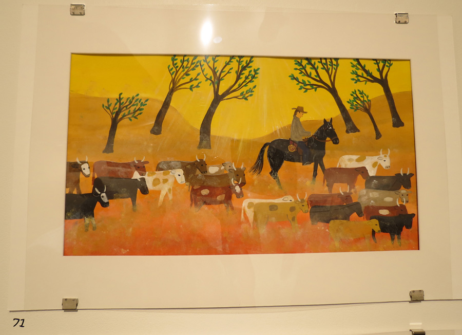 71.  Trust Bonds Horse and Rider  by Frane Lessac, gouache on paper, $895
