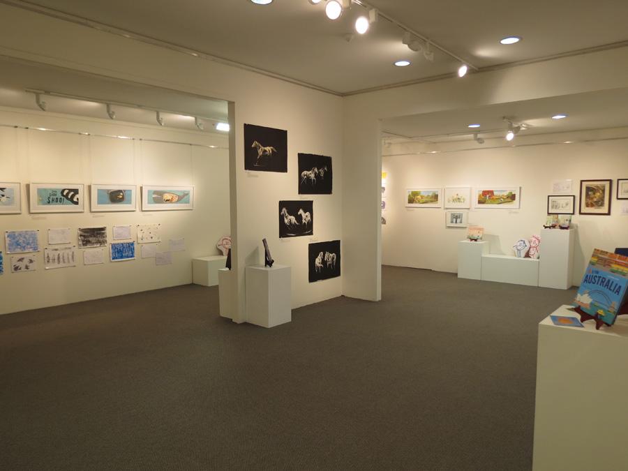 heARTlines  install - gallery centre wall
