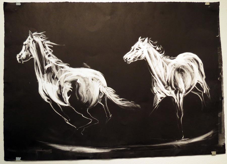 76.  The Horse Turns  by Den Scheer, momprint, $310