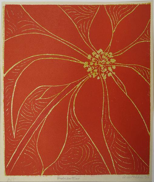 A26. Alma Hotchkin,  Poinsettia AP,  1972, $200