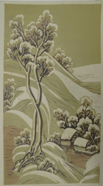 A30. Alma Hotchkin,  Snow Stillness,  c1980, $180
