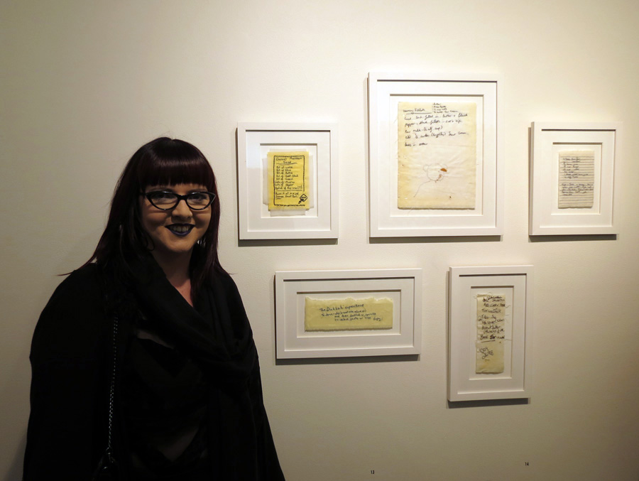 12-16 Bonnie Boogaard with her works