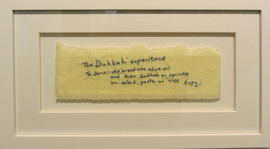 15.  Dukkah  by Bonnie Boogaard hand embroidery on cotton, $250