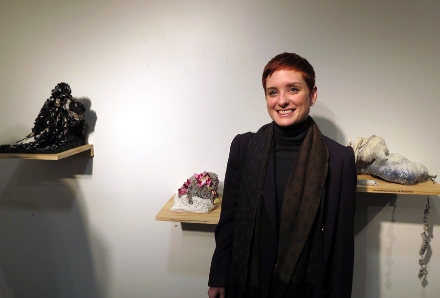 23-25 Dani Andree with her works