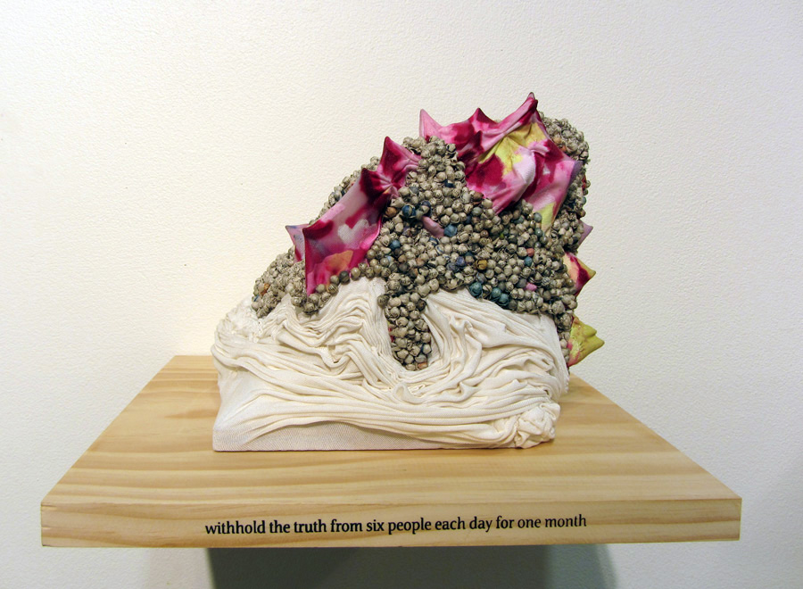 24.  withhold the truth from six people each day for one month  by Dani Andree mixed media $600