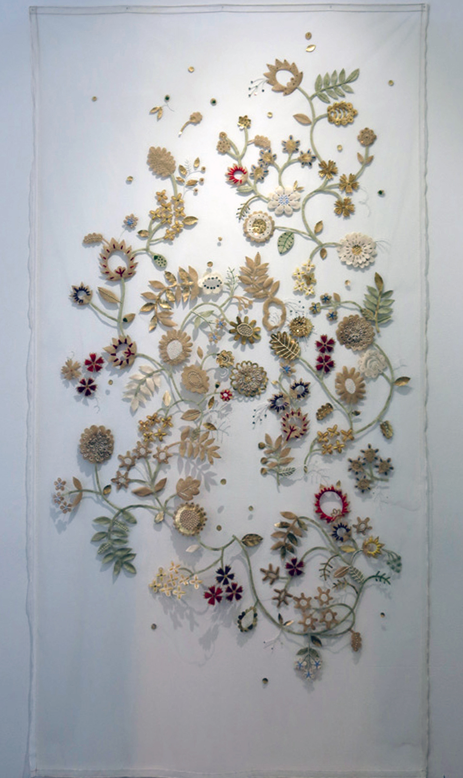 1.  The Original Place - Wall hanging 1 , Elisa Markes-Young, mixed media on Tulle, $4800