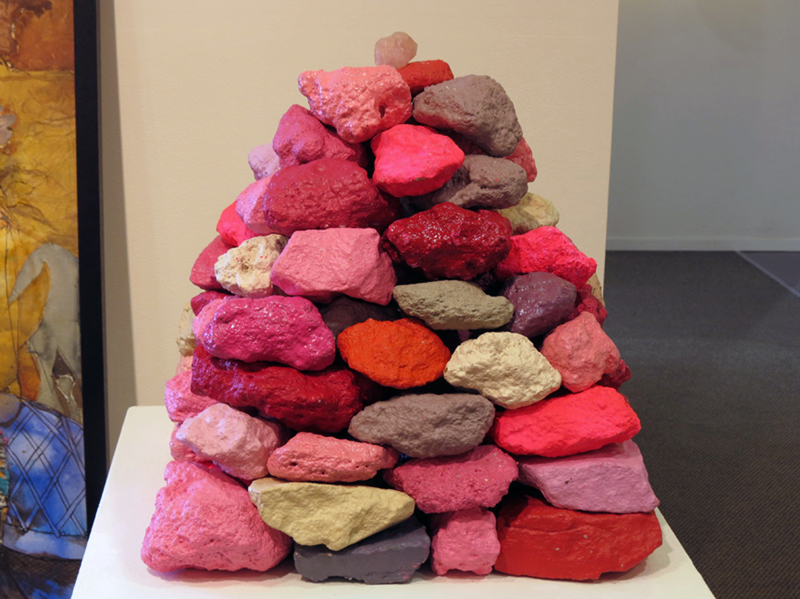 5.  Forbidden Fruit , Antony Muia, painted stones, POA