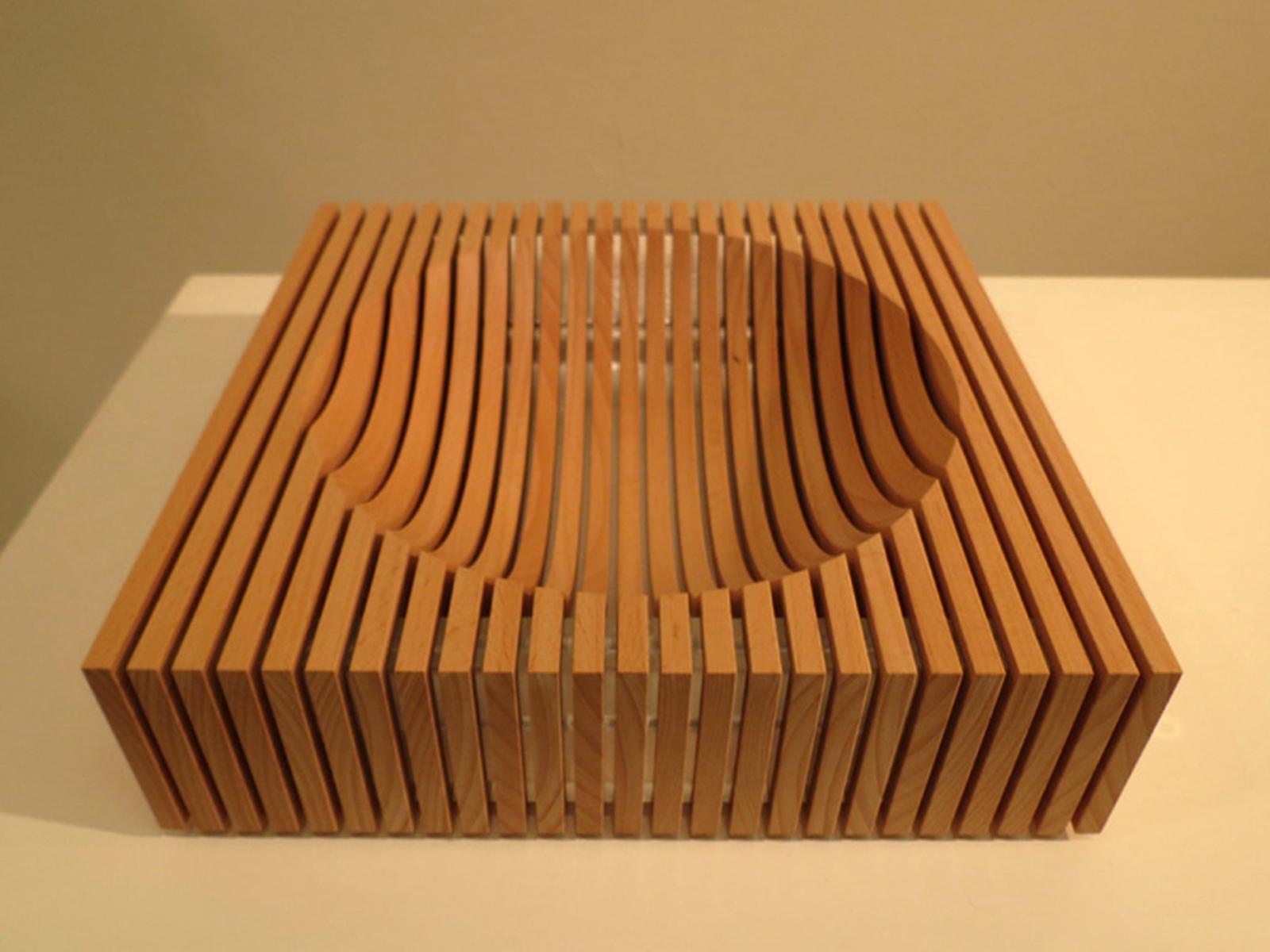 23.  Hemisphere I , Brendan Jurich, European Beech, acrylic, aluminium, titanium,$790